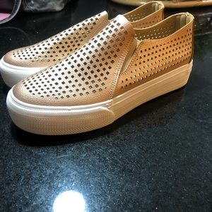 Restricted Sneakers -metallic slip on